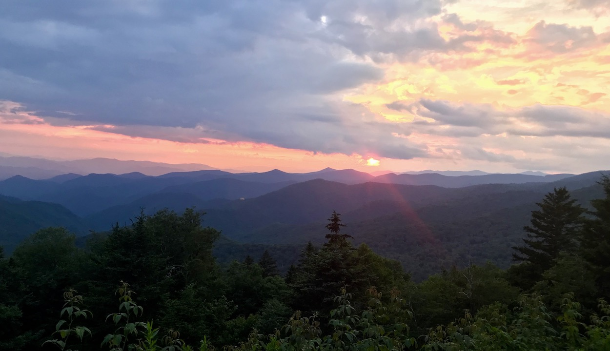 Blue Ridge Parkway - Sunset from Cowee Mountain Overlook